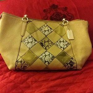 Coach Lexy snake patchwork bag